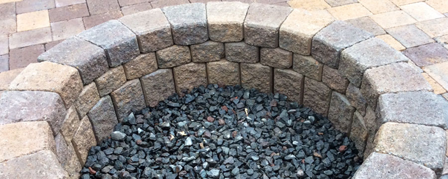 gig harbor hardscape fireplace