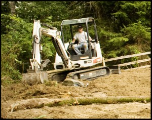 Grading and Leveling Garland Landscape