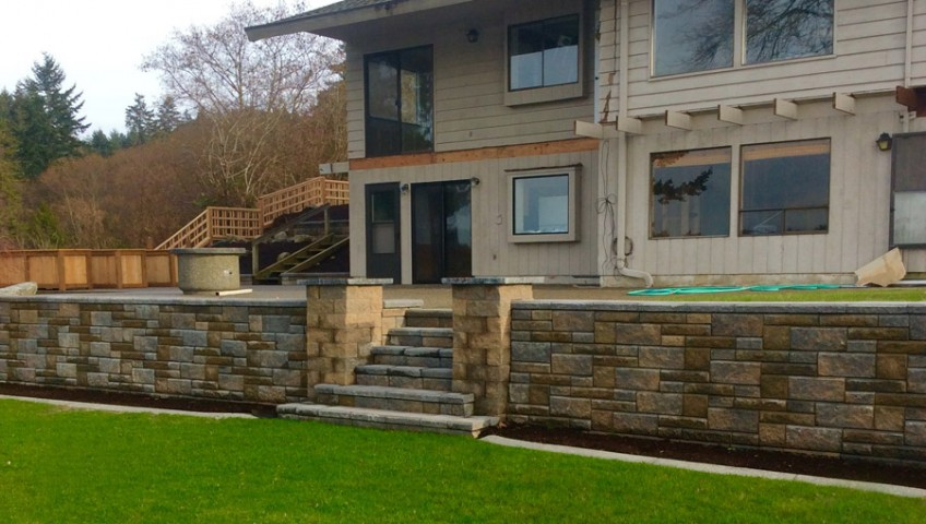 real estate retaining wall