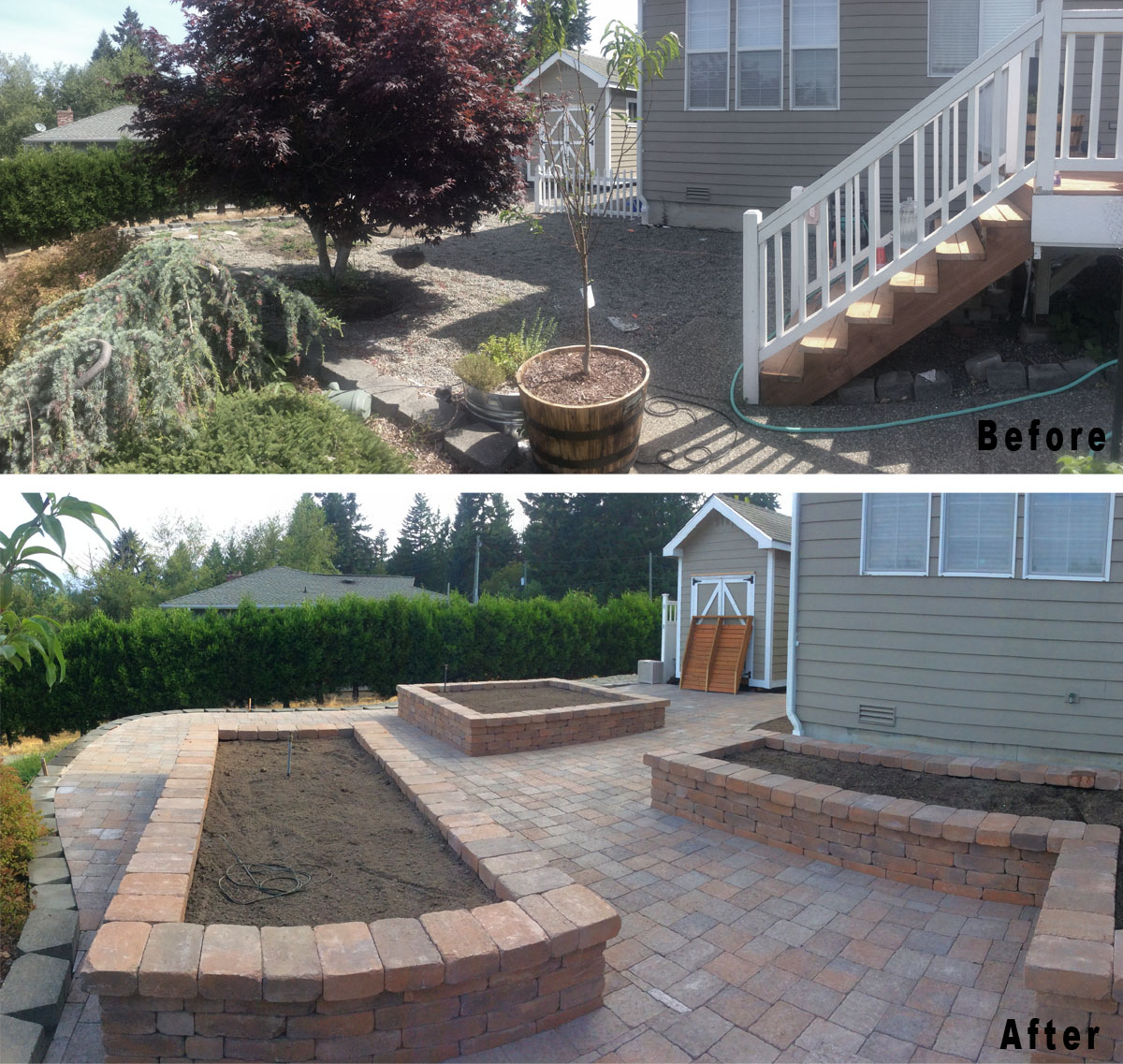retaining wall hardscape services gig harbor